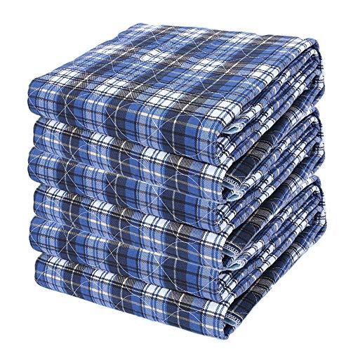 AMBH Paquete de 3 almohadillas reutilizables resistentes al agua para cama de incontinencia sofá altamente absorbente lavable a máquina para niños y mayores (color: azul, tamaño: 60 x 90 cm)