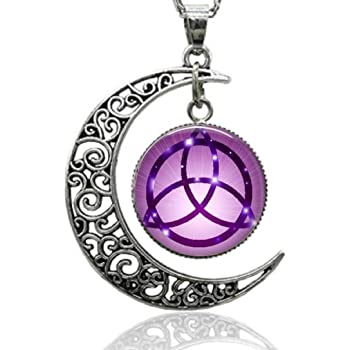 PENTAGRAM CHARM NECKLACE pentacle pagan wiccan mystical witch star blessed be