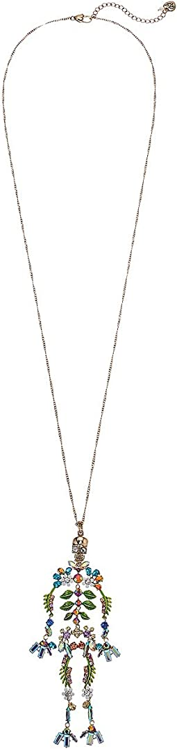 Betsey Johnson - Long Skeleton Pendant Necklace