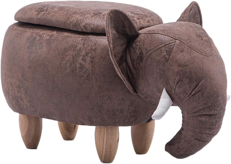 JIANFEI Footstool Sofa Stool Storage Wear Resistant,4 colors 2 Types (color   Brown, Size   B-66x34x39cm)