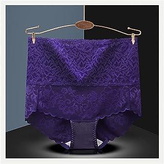 2 قطعة سراويل عالية الخصر النساء ملابس داخلية مثيرة الدانتيل مشد الجسم الإناث ملابس داخلية سلس سراويل قصيرة شبكة الأزهار ا...