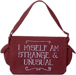 Tenacitee I Myself Am Strange and Unusual Maroon Brushed Canvas Messenger Bag