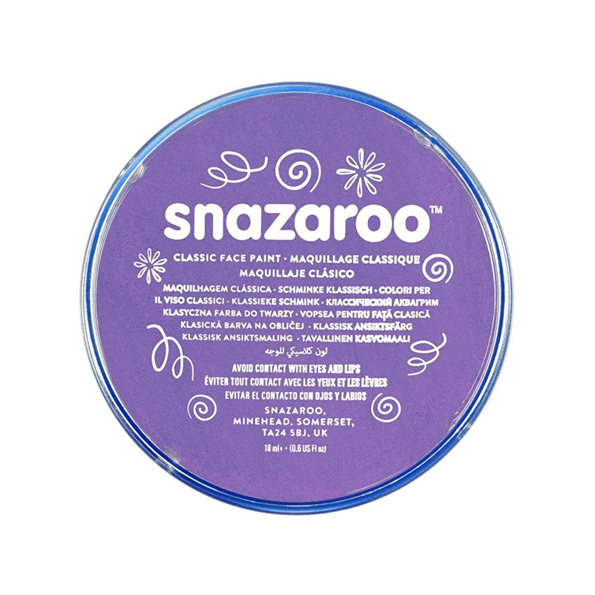 Snazaroo Classic Face Paint, 18ml, Lilac
