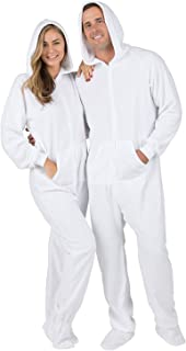 Arctic White Adult Hoodie Fleece Onesie