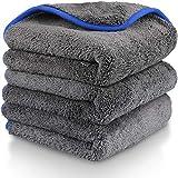 1200 GSM toalla de limpieza de microfibra, Fixget 3 Piezas microfibra coche limpieza paños coche secado toalla coche lavado limpieza auto detallando cocina limpieza paños cera -40x40cm