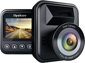Byakov Dash Cam, 1080P Dash Camera for Cars with 170° Wide Angle, Car Camera with Night Vision, WDR, G-Sensor, Parking Mon...