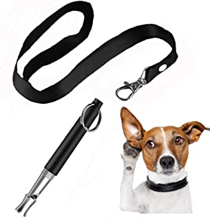 ABWIOZ Professional Dog Whistles to Stop Barking, Ultrasonic Silent Dog Whistle Adjustable Frequencies, Effective Way of Training, Dog Whistle for Recall Training with Free Lanyard