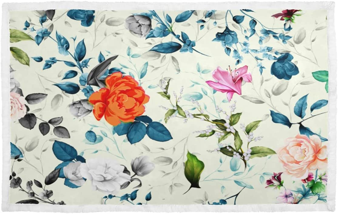 Dog Large special Excellent price Blankets for Medium Dogs Blue Retro Peony Do Flower Romantic