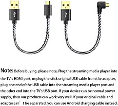 USB Cable for Chromecast, Roku Stick USB Cable No AC Outlet Need, Power Cable Compatible for Fire Stick, Roku Streaming Stick, Chrome Stick
