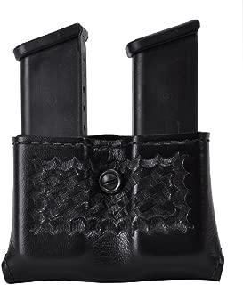 Safariland Duty Gear Glock 17, 22, 34, 34, Sig P229 Concealment Double Handgun Magazine Pouch (Basketweave Black)