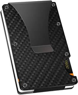Carbon Fiber Slim Wallet - Metal Wallet - RFID Blocking Wallet   Up to 12 Cards - Front Pocket Wallets for Men, Credit Card Holder - Minimalist Wallet