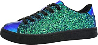 Lucky Step Glitter Sneakers Lace up | Fashion Sneakers |...