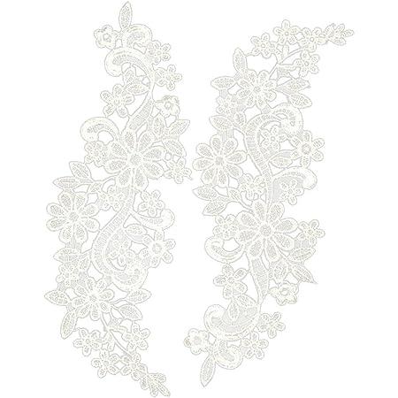 Blanc Ivoire Floral Motif De Dentelle Applique Tulle Dentelle Applique Patch Vendeur Britannique