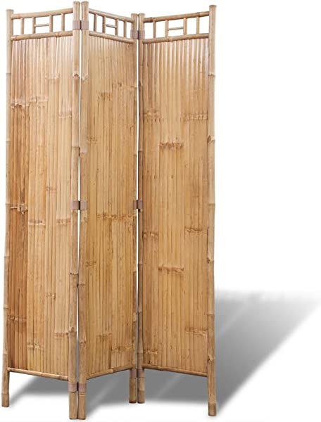 Festnight 3 Panel Folding Bamboo Room Divider Decorative Privacy Screen Room Divider