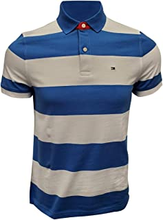 Tommy Hilfiger Men's Regular Fit Wide Striped Polo Shirt