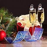 COSORO Weihnachten Tischdeko Kits-30 Fun Weihnachten Glas Dekorationen,6 Xmas Socken Bestecktasche Besteckhalter Taschen,6 Weinglas Charms Marker,1 Pack Xmas Confetti - 5