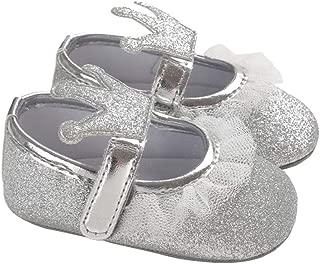 lakiolins Baby Girl Glitter Crowns Eyelet Lace Dress Shoes Mary Jane Photography Crib Shoe