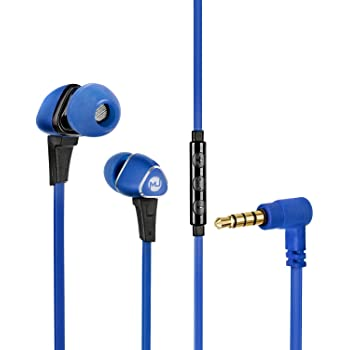 Macjack Wave 100 in Ear Wired Earphones with Mic, Volume Controls, Immersive Bass, Peak Noise Cancellation, 10mm Dynamic Drivers for HD Sound with Metal Magnetic Earbuds