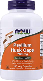 NOW Supplements, Psyllium Husk Caps 700 mg with 50 mg of Apple Pectin, Intestinal Health*, 180 Veg Capsules