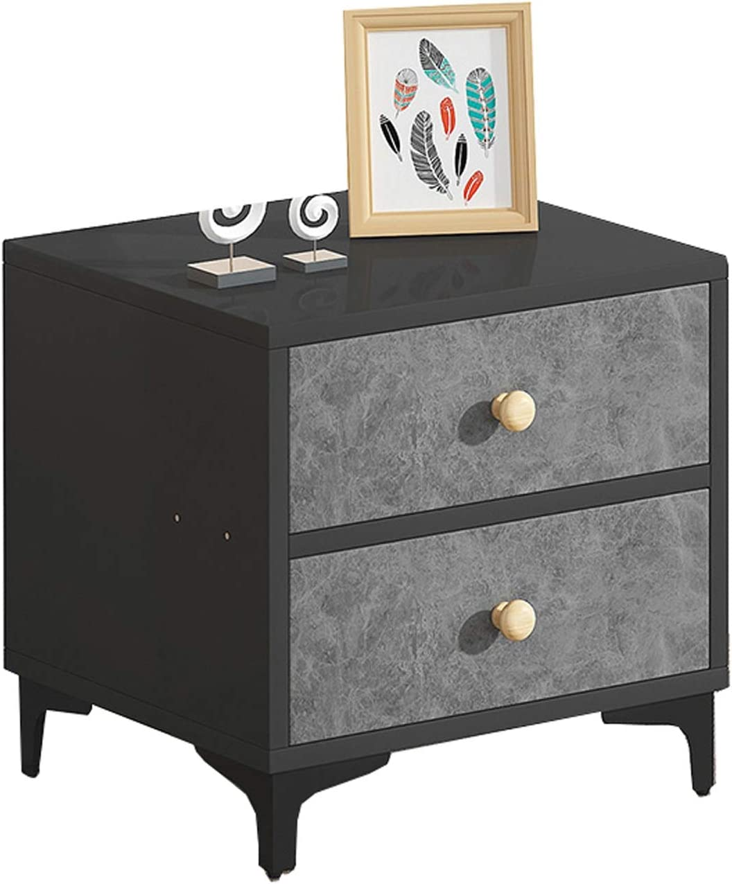 LQ Metal Leg 2021 model Side Table Storage Limited time for free shipping Coffee Tea 2-Drawer