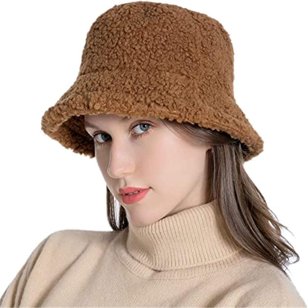Sombrero de invierno de lana de Panam/á para mujer sombrero de pescador de piel sint/ética Rinasun