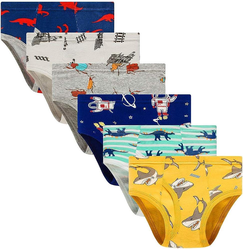 benetia Boys' Cotton Underwear Multicolor-Pack