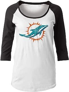 New Era Miami Dolphins Women's NFL Score 3/4 Sleeve Scoop Neck Shirt