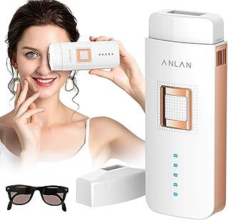 ANLAN IPL Depiladora de Luz Pulsada, Dispositivo de Depilación Permanente Profesional Seguro e Indoloro para Cuerpo y Cara, para Mujer y Hombre