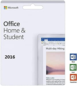 Office Home and Student 2016 for 1 PC | KeyCard (not CD) | Lifetime License | New