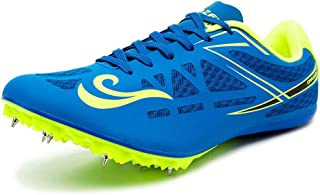 Track & Field Spikes, Junior Track & Field Shoes Running Training Sneakers Unisex Running Spikes Sprint Spikes,Blue,45EU