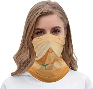 Microfiber Mask//Neck Warmer Gaiter,Pyramid Mirage Headwear,Headband