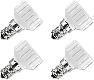 Lunartec LED Adapter: Lampensockel Adapter Adapter E14 auf GU10, 4er Set (Adapter für LED Lampen)