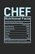 Chef Nutritional Facts: 6x9 checkered notebook, 120 Pages, Composition Book and Journal, funny gift for your favorite Chef