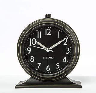 YYF Old-Fashioned Minimalist Alarm Clock - All-Alloy, Glass Mirror Simple Retro Small Clock - 4 inches (Color : B)