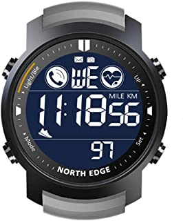 WUHUAROU Reloj Inteligente para Hombre, Monitor de Ritmo cardíaco, Impermeable, 50 M, natación, Correr, Deportes, podómetro, cronómetro, Reloj Inteligente Android iOS