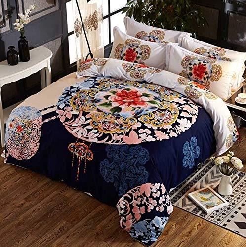RONGXIE Nieuwe 4 stks Beddengoed Set Queen Volledige King grootte Dekbedovertrek Set met Kussenslopen 4 stks Bed Set Home Textiles