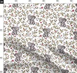 Baby Elefant, Boho, Blumenmotiv, Rosa, Kinderzimmer,