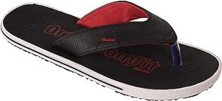 BATA Men Black Soft Orthocomfit Slippers Flip Flops