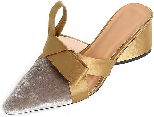 zapatos para mujer Comfort Chunky Heel Sandals zapatos Casuales para oro plata Spring Summer Fall