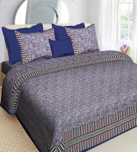 Florence Craft Jaipur Prints Rajasthani Bedlaken Aanbieding 100% Katoen Rajasthani Jaipuri Traditionele 1 Tweepersoonsbedden met 2 Kussensloop