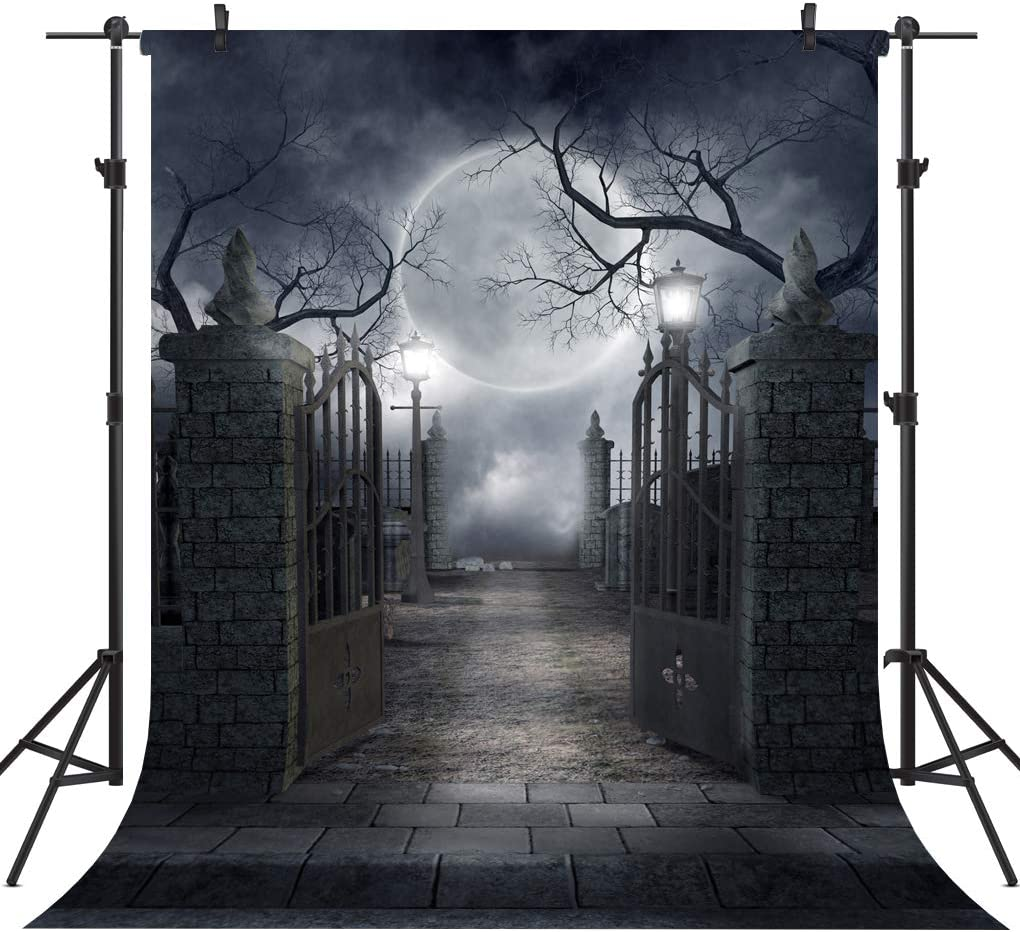 OUYIDA 8X8FT Halloween Theme Pictorial Cloth Seamless Customized Photography Backdrop Background Studio Prop TP17B