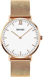 Milanese Strap Unisex Elegant Minimalist Wrist Watch 28-40mm Watch Face Japan Quartz Silver/Rose-Gold