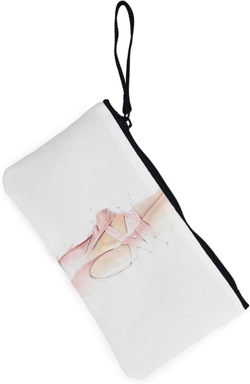 AORRUAM Ballet shoes Canvas Coin Purse,Canvas Zipper Pencil Cases,Canvas Change Purse Pouch Mini Wallet Coin Bag