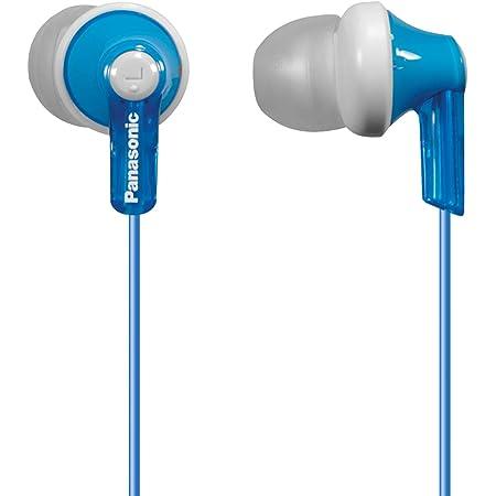 Panasonic ErgoFit In-Ear Earbud Headphones RP-HJE120-A (Blue) Dynamic Crystal-Clear Sound, Ergonomic Comfort-Fit