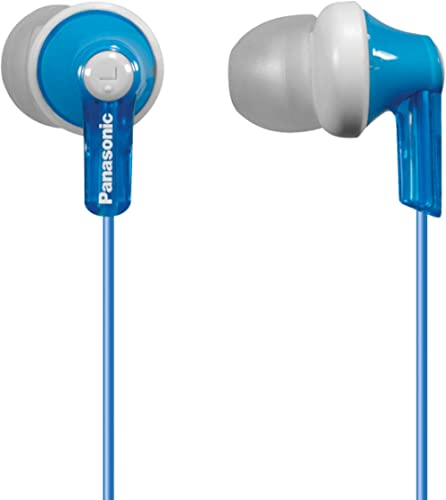 Panasonic ErgoFit in-Ear Earbud Headphones RP-HJE120-A (Blue) Dynamic Crystal Clear Sound, Comfort-Fit, 1 Pack