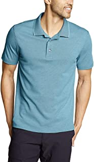 Eddie Bauer Men's Voyager 2.0 Short-Sleeve Polo Shirt - Classic Fit, Solid