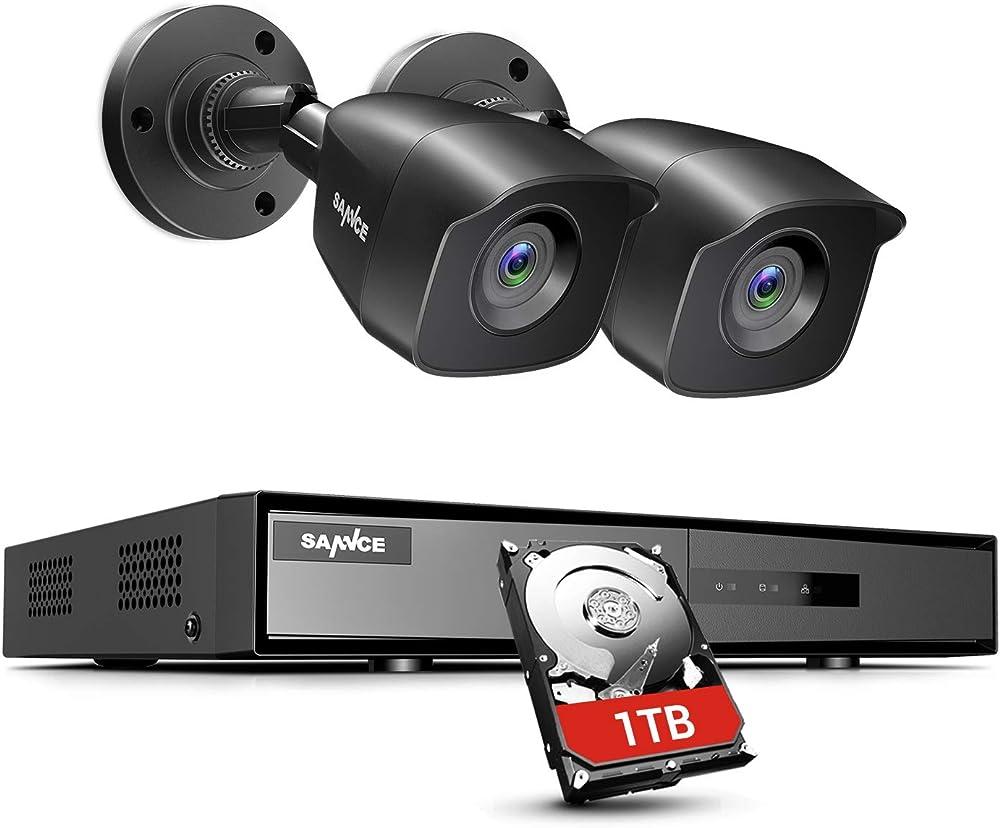 Sannce kit videosorveglianza 4ch dvr 5 in 1 tvi con 1tb disco duro 2 telecamere hd sistema di sicurezza cctv SE-DN41CK1-52ER#DE01