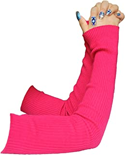 Share Maison Women's Winter Fingerless Stretchy Cashmere Wool Gloves Long Arm Warmers Fashion Sleeves