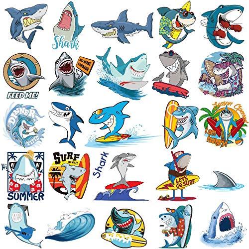 Ooopsiun Shark Temporary Tattoos for Boys - 12 Sheets, Ocean Sea Shark Birthday Party Decorations Supplies Favors for Boys Kids