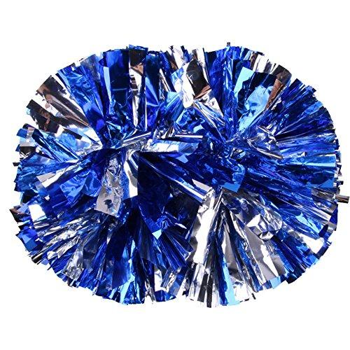 Pompons Cheerleading Cheerleader Tanzwedel Puschel Wedel Pompon Pom Pon Fenst 2Stk. (blau)